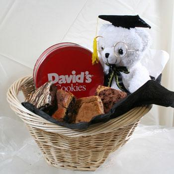 David's Cookies Graduation Bear with Fresh Baked Cookies
