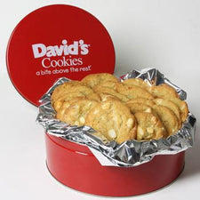 David's Cookies Macadamia White Chocolate Chunk 2lb Tin
