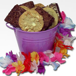 David's Cookies Purple Summer Basket