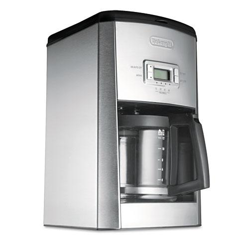 Delonghi DC514T Stainless Steel Black Silver 14-Cup Esclusivo Drip Coffee Maker
