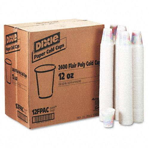 Dixie 12oz Polycoated Cold Drink Paper Cups 2400ct