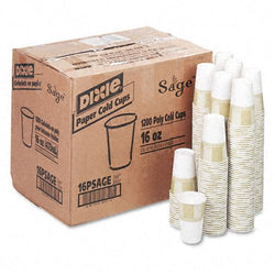 Dixie 16oz Polycoated Cold Drink Paper Cups 1200ct