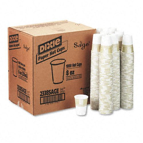 Dixie 8oz Hot Drink Poly Foam Lined Paper Cups 1000ct