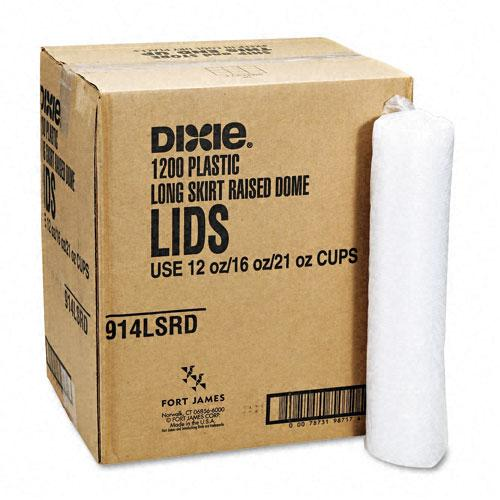 Dixie Plastic Lids for 12oz & 16oz Cold Drink Cups 1200ct