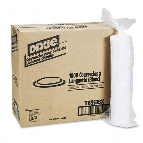 Dixie Plastic Lids for 8oz Hot Drink Cups 1000ct