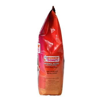 Dunkin Donuts Original Blend 12oz Ground Bag Right Side
