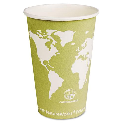 Eco-Products 16oz Hot Paper Cups with Compostable PLA Plastic 1000ct