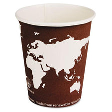 Eco-Products 8oz Hot Paper Cups with Compostable PLA Plastic 1000ct