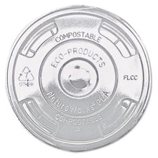 Eco-Products Clear Flat Lids for Cold Clear Corn Plastic Cups 1000ct