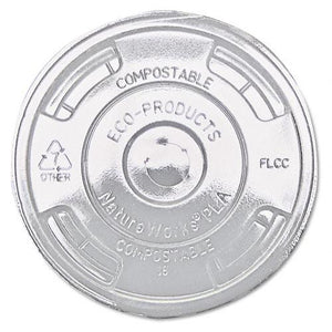 Eco-Products Clear Flat Lids for Corn Clear Plastic Cups 1000ct