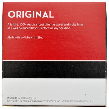 Eight O'Clock Coffee Original K-Cups 12ct Box back