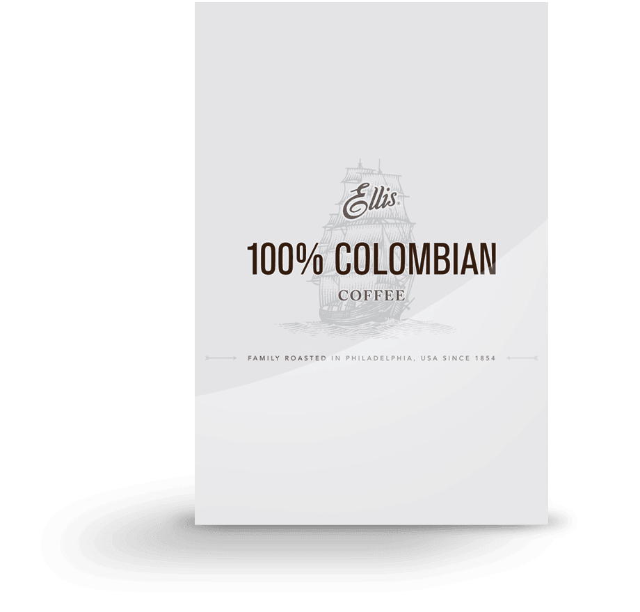 Ellis 100% Colombian Ground Coffee 84 1.75oz Bags