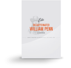 Ellis William Penn Blend Decaffeinated Room Service Ground Coffee Packets 150 0.75oz Bags