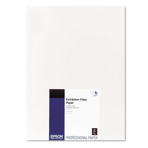 Epson White 13 x 19 Exhibition Fiber Paper with Micro Porous Smooth Gloss 25ct