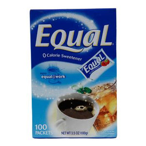 Equal Single-Serve NutraSweet Packets 100ct Front Box