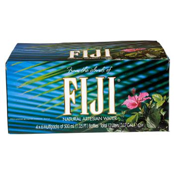 Fiji Bottled Water 24 500ml Bottles Front Box