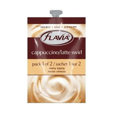 Flavia Cappuccino Latte Swirl Fresh Packs  80ct 4 Rails
