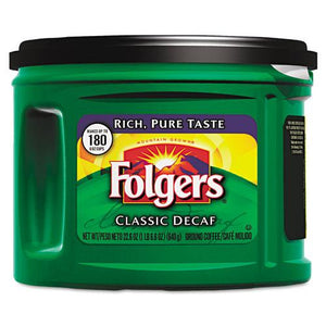 Folgers Classic Roast Decaffeinated Ground Coffee 6 22.6oz Cans
