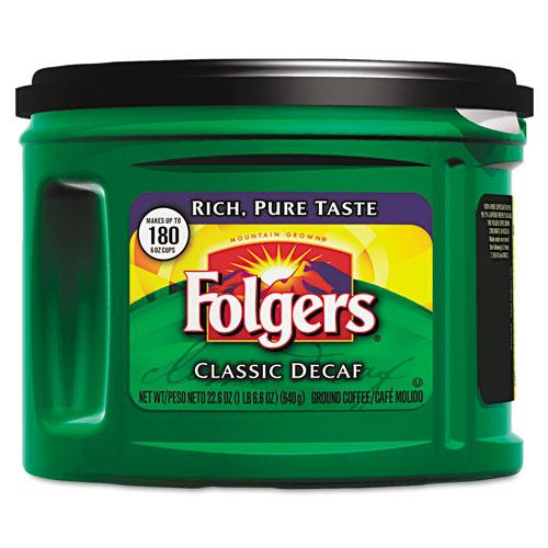 Folgers Classic Roast Decaffeinated Ground Coffee 22.6oz Can