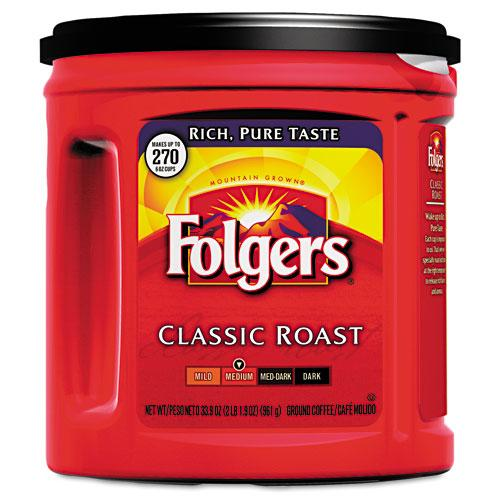 Folgers Classic Roast Ground Coffee 30.5ozoz Can