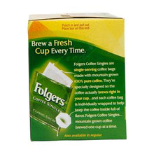 Folgers Coffee Singles Decaffeinated 19ct Box Left Side 3.0oz Bags