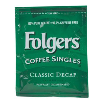 Folgers Coffee Singles Decaffeinated 19ct 3.0oz Bags