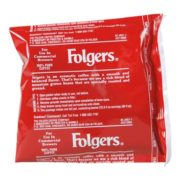 Folgers Coffee Ultra Ground Coffee 150 0.9oz Bags Back