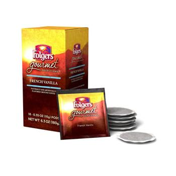 Folgers Gourmet Selections French Vanilla Coffee Pods 18ct