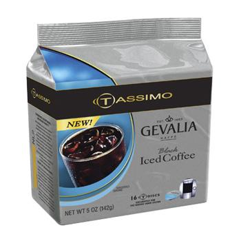 Gevalia Black Iced Coffee T-Disc Coffee 16ct