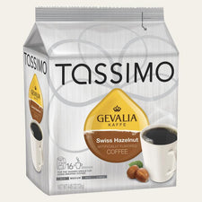Gevalia Swiss Hazelnut Tassimo T-Discs Coffee 16ct