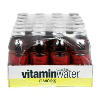 Glaceau Vitamin Water Defense Raspberry Apple 24 20oz Bottles Front Case