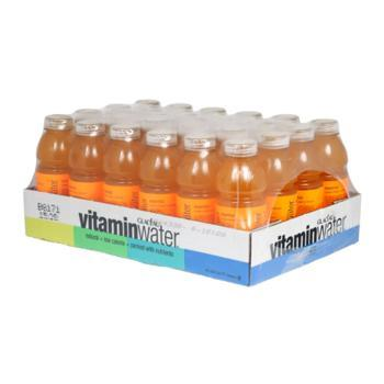 Glaceau Vitamin Water Essential Orange 24 20oz Bottles Angled Case