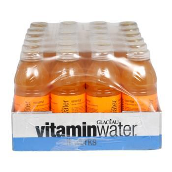 Glaceau Vitamin Water Essential Orange 24 20oz Bottles Front Case