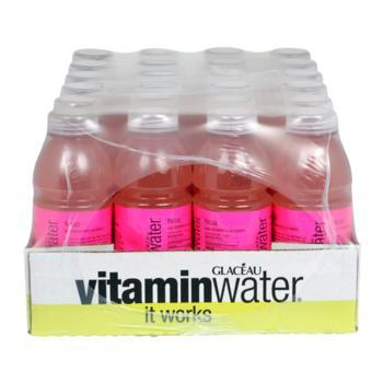 Glaceau Vitamin Water Focus Kiwi Strawberry 24 20oz Bottles Front Case