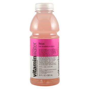 Glaceau Vitamin Water Focus Kiwi Strawberry 24 20oz Bottles