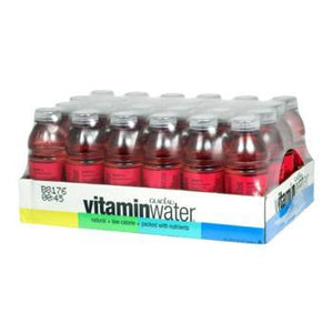Glaceau Vitamin Water Power-C Dragonfruit 24 20oz Bottles Angled Case