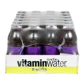 Glaceau Vitamin Water Revive Fruit Punch 24 20oz Bottles Front Case
