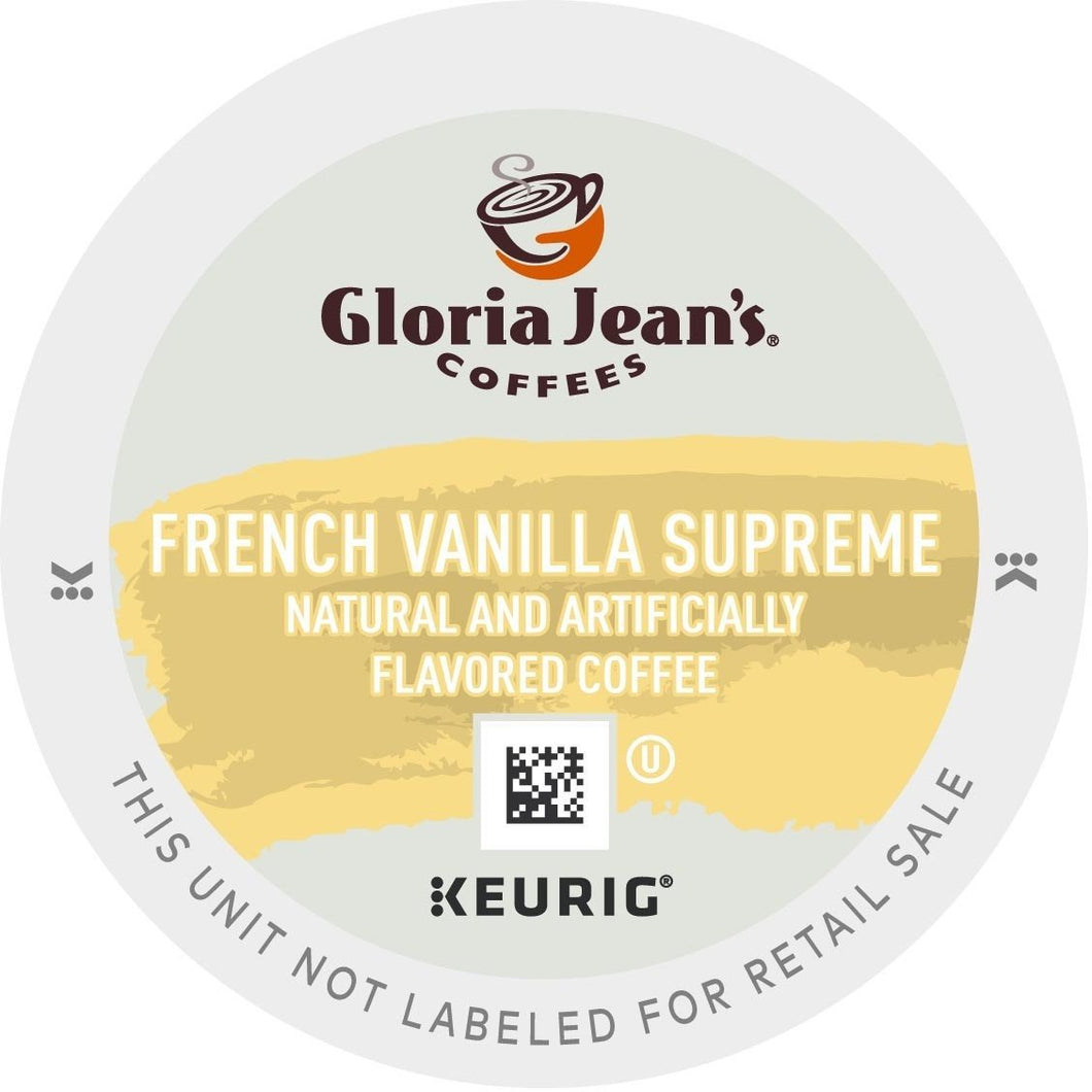 Gloria Jean's French Vanilla Supreme K-Cups 24ct Flavored