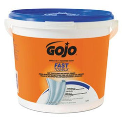 Gojo 9x10 Inch Fast Wipes Cloth Hand Cleaning Towels 225ct Buckets