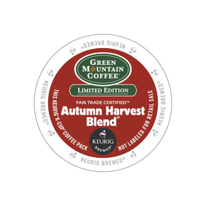 Green Mountain Coffee Autumn Harvest Blend K-Cup Pods Coffee 96ct