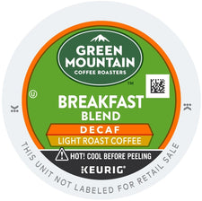 Green Mountain Coffee Breakfast Blend Decaf K-Cups 24ct Mild
