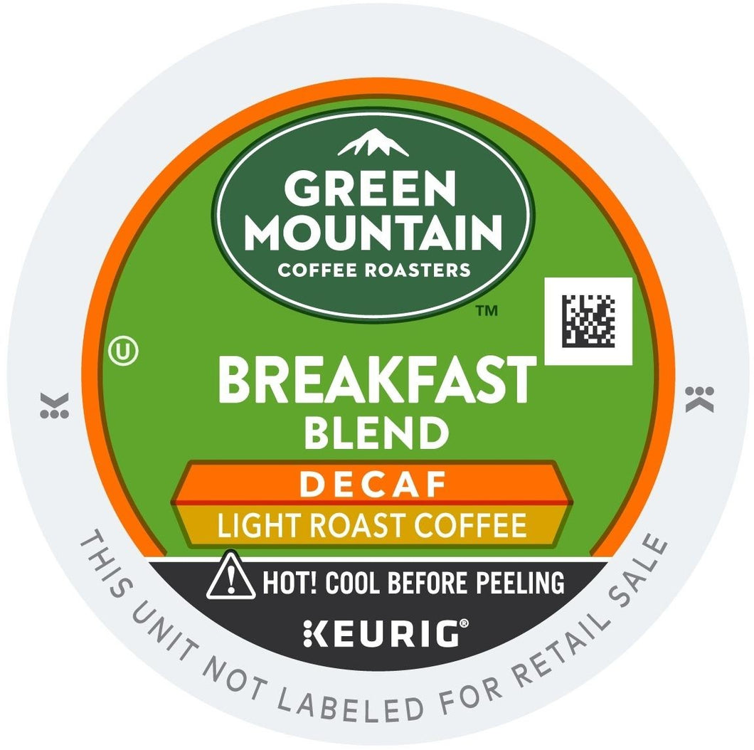 Green Mountain Coffee Breakfast Blend Decaf K-Cups 96ct Mild