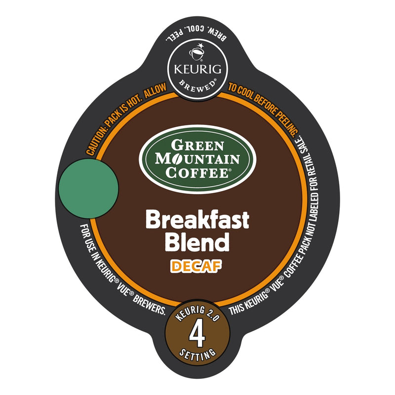 Green Mountain Coffee Breakfast Blend Decaf Vue Packs 16ct