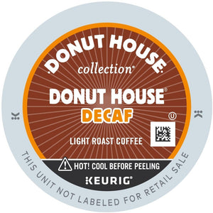 Green Mountain Decaf Donut House Coffee Light K-Cups 96ct Case