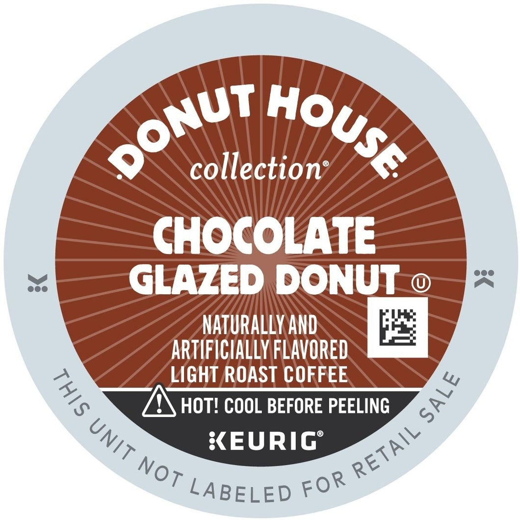 Green Mountain Donut House Chocolate Glazed Donut Coffee K-Cups 96ct Case