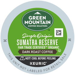 Green Mountain Coffee Fair Trade Organic Sumatran Reserve K-Cups 24ct Extra Bold