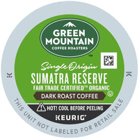 Green Mountain Coffee Fair Trade Organic Sumatran Reserve K-Cups 96ct Extra Bold