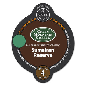 Green Mountain Coffee Fair Trade Organic Sumatran Reserve Vue Packs 16ct
