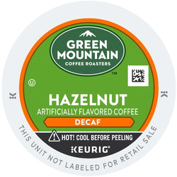 Green Mountain Coffee Hazelnut Decaffeinated K-Cups 96ct Flavored