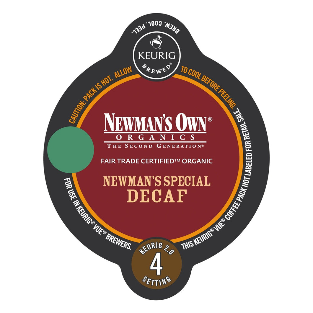 Green Mountain Coffee Newman's Own Organics Special Decaf Vue Packs 16ct